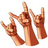 Set von drei Schwermetallhänden Lizenzfreie Stockbilder