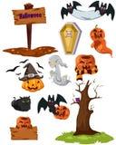 Set von Halloween Stockfotografie