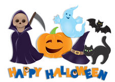 Set von Halloween Stockfoto