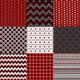 Set von neun geometrischen Retro- Hintergründen Lizenzfreies Stockbild