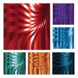 Set von sechs abstrakten Hintergründen stock abbildung