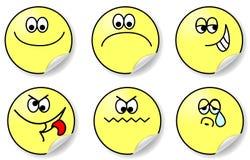 Set von sechs Ausdrücken des Gefühlvektors Lizenzfreies Stockbild