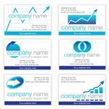 Set von sechs FinanzVisitenkarten Lizenzfreie Stockfotos