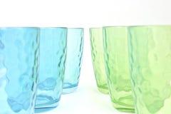 Set von sechs Glasbechern Lizenzfreie Stockfotos