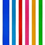 Set von sechs verschiedenen Farbensatinfarbbändern Stockfotografie