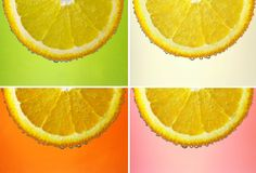 Set von vier Abbildungen Stockbilder