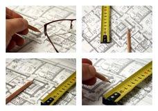 Set von vier Abbildungen auf dem Thema des Geschäfts Lizenzfreies Stockbild