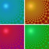 Set von vier abstrakten Fractalhintergründen Lizenzfreies Stockbild
