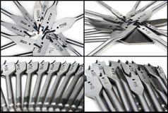 Set von vier Bildern der Paddelbits Lizenzfreie Stockfotografie