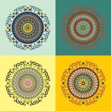 Set von vier ethnischen Motiven Lizenzfreies Stockfoto