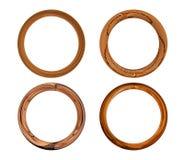 Set von vier Holzrahmen Lizenzfreie Stockbilder