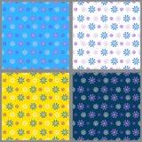 Set von vier nahtlosen Mustern Lizenzfreie Stockfotografie