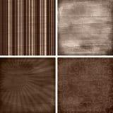 Set von vier verschiedenen Retro- Einklebebuchhintergründen Stockfotos
