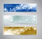 Set von Weihnachten/von neuem Jahr Fahnen Lizenzfreie Stockfotos