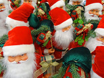 Set von Weihnachtsmann Stockfoto