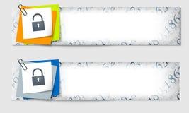 Set von zwei Fahnen Lizenzfreies Stockbild