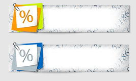 Set von zwei Fahnen Lizenzfreies Stockfoto
