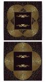 Set von zwei Karten Stockfotografie