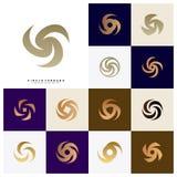 Set Vortex logo projekta pojęcia wektor Huraganowa ikona Tornado logo symbol royalty ilustracja