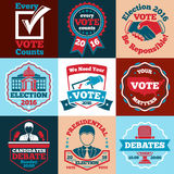 Set of Vote vector labels, badges for elections etc. royalty free illustration