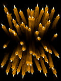 Votive Candles. Set of votive candles burning in the dark stock photos