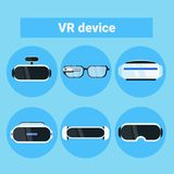 Set Of Vr Devices Icons Modern Virtual Reality Goggles, Glasses And Headset Collection Stock Photography