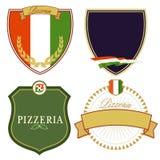 Set Włoscy znaki Obrazy Stock