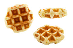 Set of waffles isolated on white background Royalty Free Stock Photos
