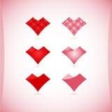 Set walentynek ikony, projektów elementy Obraz Royalty Free