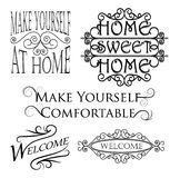 Set of wall decorations Stock Photography