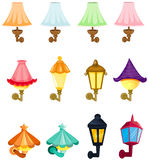 Set of wall lanterns stock illustration