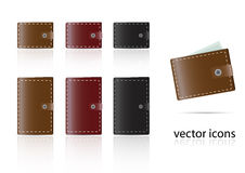 Set of wallet icons Royalty Free Stock Photography