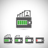 Set of wallet icons Royalty Free Stock Photo