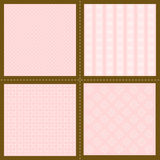 Set of wallpaper patterns Royalty Free Stock Image