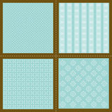 Set of wallpaper patterns Stock Photos