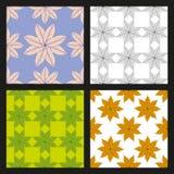 Set of Walnut leaves vector pattern stock image