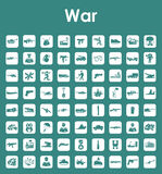 Set of war simple icons Royalty Free Stock Photo