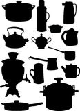 Set of ware silhouettes Royalty Free Stock Image