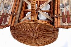 Set Waren für Picknick Lizenzfreies Stockfoto