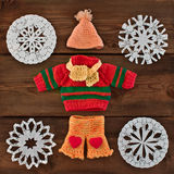 Set of warm knitted clothes Royalty Free Stock Photography