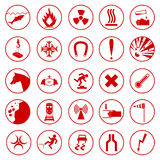 Set of warning and danger signs. Royalty Free Stock Photography