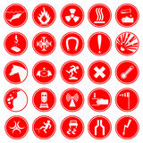 Set of warning and danger signs. Stock Image