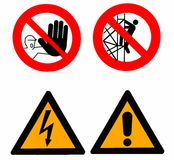 Set of warning signs Royalty Free Stock Photography