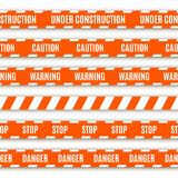 Set of warning tapes Stock Images