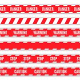 Set of warning tapes Stock Photo