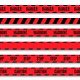 Set of warning tapes Royalty Free Stock Photo