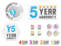 Set of warranty stickers Royalty Free Stock Photography
