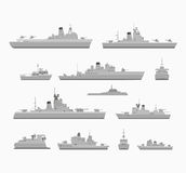 Set warships Stock Images