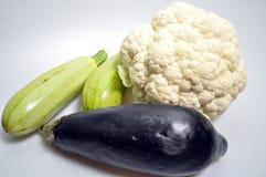 Set warzywa - kapusta, zucchini, oberżyna zdjęcie stock