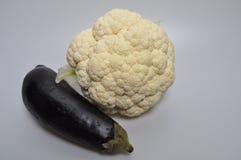 Set warzywa - kapusta, zucchini, oberżyna zdjęcie royalty free